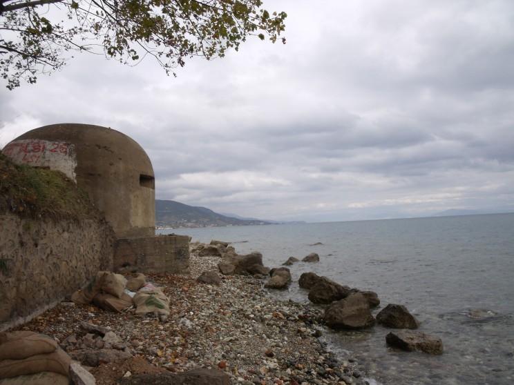 Bunker az Ohrid tó parján