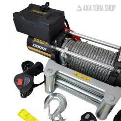 kw13000_elektromos-csörlő, 4x4 Túra Shop LED fényhíd munkalámpa terepjáró offroad traktor autómentő felszerelés, csörlő rántokötél heveder