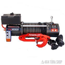 Powerwinch 12000 E elektromos csörlő szintetikus kötéllel
