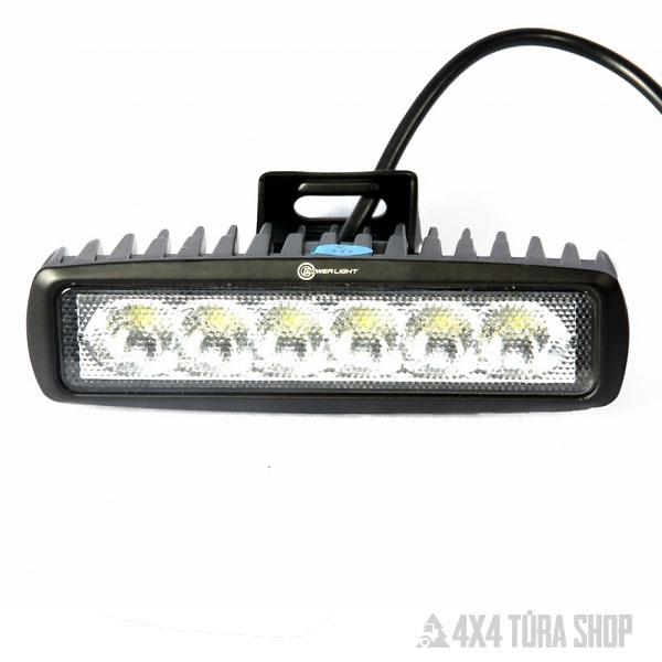 18W-os terítő fényű led munkalámpa, 4x4 Túra Shop LED fényhíd munkalámpa terepjáró offroad traktor autómentő felszerelés, csörlő rántokötél heveder
