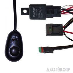 Ledlámpa beszerelő kábel készre szerelve, 4x4 Túra Shop LED fényhíd munkalámpa terepjáró offroad traktor autómentő felszerelés
