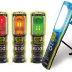 LED munkalámpa jelzőfénnyel