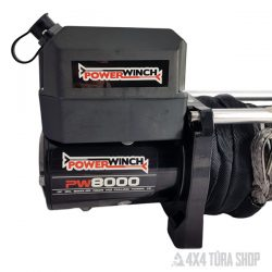 Powerwinch elektromos csörlő szintetikus kötéllel