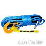 Szintetikus csörlőkötél kampóval kék, 12mmx28m 10.8 t